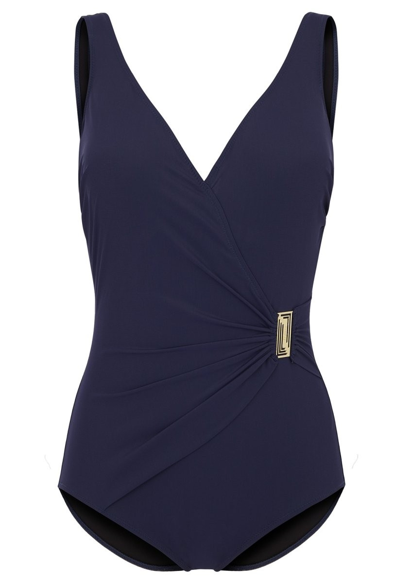 Felina Badeanzug mit Schale V-Ausschnitt 5206202 Classic Shape solid navy