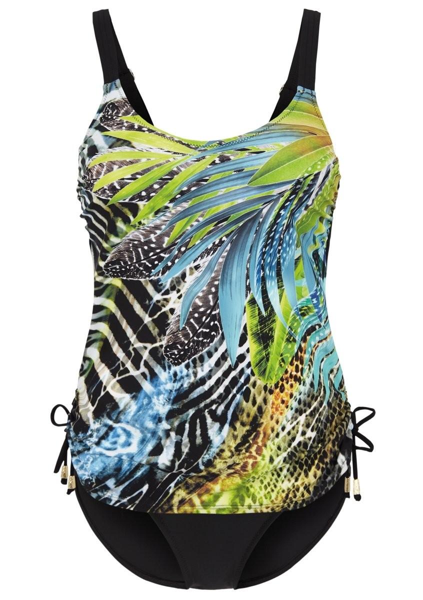 Felina Tankini Top mit Bügel 5273299 Green Fig black jungle